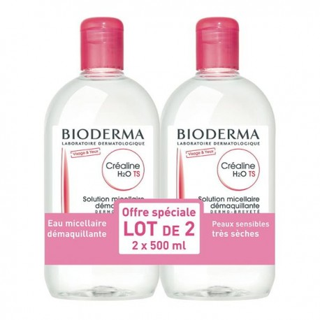 Bioderma crealine h2o ts lot 2x500ml