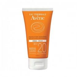 Avène Eau Thermale Crème Solaire Protection Modérée Spf 20 50 Ml
