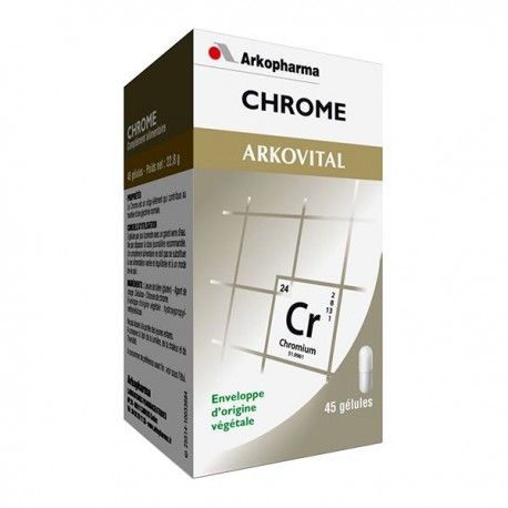 Arkopharma Arkovital Chrome complément alimentaire 45 gélules