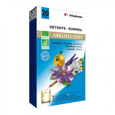 Arkomed détente 20 ampoules