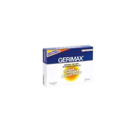 Gerimax fatigue physique intellectuelle 30 comprimés