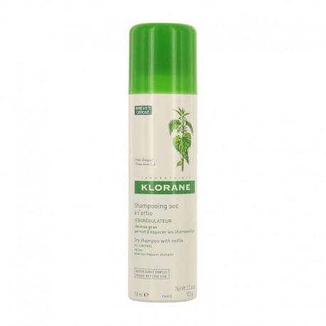 Klorane shampooing sec à l'ortie shampooing séboregulateur 150ml