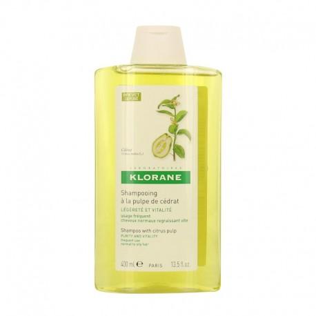 Klorane shampooing à la pulpe de Cédrat 400 ml