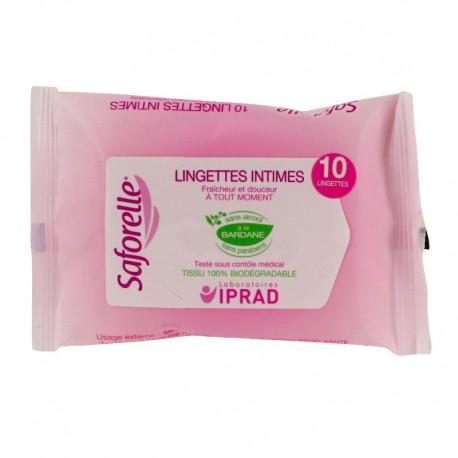 Saforelle lingettes muqueuses et peaux sensibles 10 lingettes
