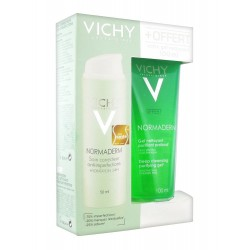 Vichy Normaderm Soin Embelliseur Anti-imperfections Hydratation 24h 50 Ml + Gel Nettoyant Purifiant Profond 100 Ml Offert
