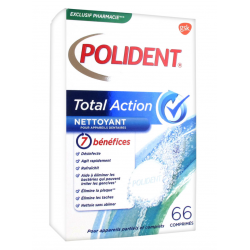 Polident Total Action Nettoyant Pour Apareils Dentaires 66 Comprimés