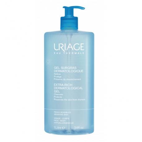Uriage Surgras Liquide Dermatologique Gel Nettoyant Moussant 1 litre