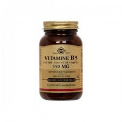 Solgar Vitamine B5 Acide Pantothénique 550mg 50 Gélules
