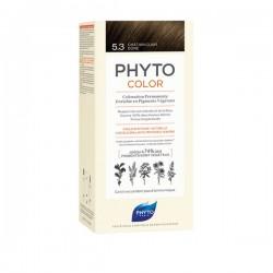 Phyto Phytocolor Coloration Permanente 5,3 Châtain Clair Doré 112ml