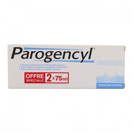 Parogencyl prévention gencives dentifrice - Lot 2 x 75 ml