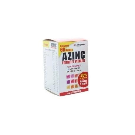 Arkopharma azinc forme et vitalité complément alimentaire 60 gélules