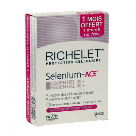 Richelet Sélénium-Ace Essentiel 30+ complément alimentaire 90 comprimés