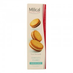 Milical Biscuits Fourrés Saveur Coco 12 Biscuits