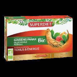Superdiet Ginseng Panax Bio Gelée Royale Acérola 20 Ampoules