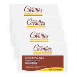 Rogé Cavaillés Savon Surgras Extra-doux Fleur De Coton 3x250g+1 Offert