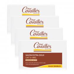 Rogé Cavaillès Savon Extra Doux Lait Et Miel 3x250g + 1 Offert