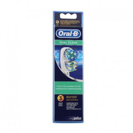 Oral-B dual clean brossettes de rechange 3 têtes