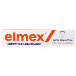 Elmex Dentifrice Sans Menthol Compatible Avec L'homéopathie 75 Ml