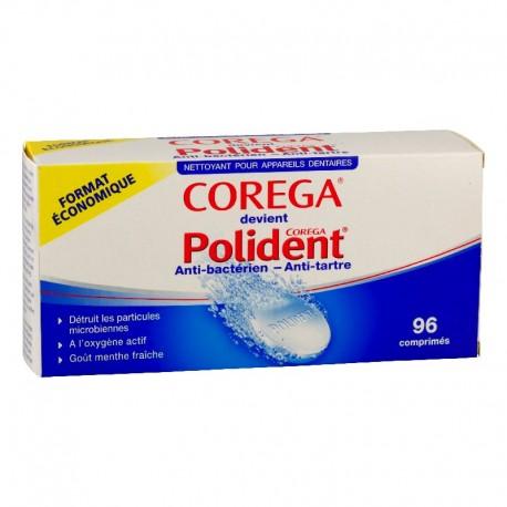 Polident Anti-Bactérien Nettoyant Pour Appareils Dentaires 96 comprimés