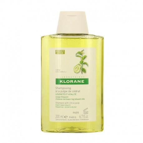 Klorane shampooing à la pulpe de cédrat 200ml