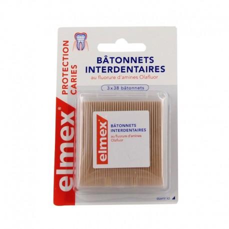 Elmex Bâtonnets Interdentaires - 3 x 38 bâtonnets