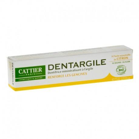 Cattier dentargile à l'huile essentielle de citron dentifrice 75ml