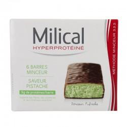 Milical Barres Minceur Protéinées Saveur Pistache 6 Barres