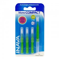 Inava Mono Compact Brossettes Interdentaires Rouges 4 Brossettes