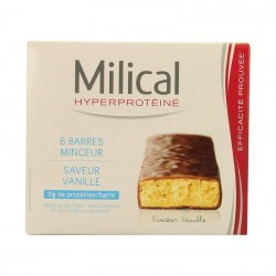 Milical Barres Minceur Protéinées Saveur Vanille 6 Barres