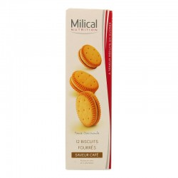 Milical Biscuits Fourrés Saveur Café 12 Biscuits