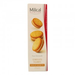 Milical Biscuits Fourrés Saveur Noisette 12 Biscuits