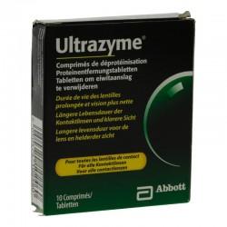 Abbott Ultrazyme Comprimés De Déprotéinisation Lentilles Souples 10 Comprimés