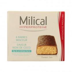 Milical Barres Minceur Protéinées Saveur Noix De Coco 6 Barres