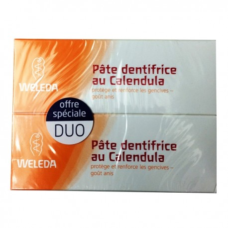 Weleda pâtes dentifrices au calendula lot 2 x 75 ml