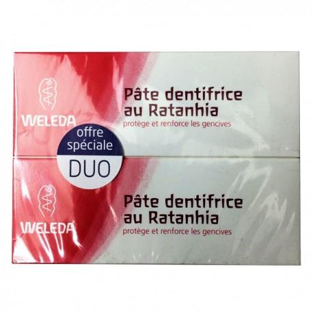 Weleda pâte dentifrice au ratanhia - Lot 2 x 75 ml