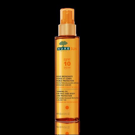 Nuxe sun Huile Bronzante Faible Protection SPF 10 150 ml