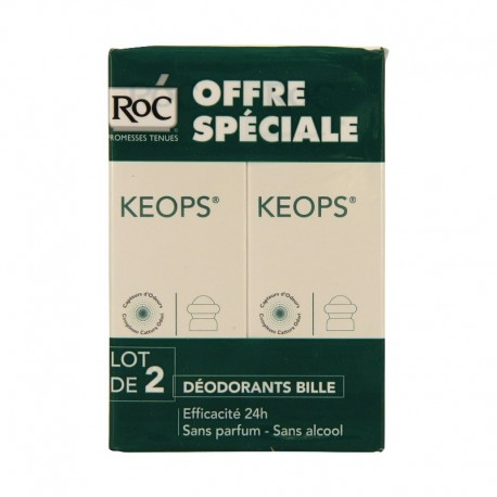 Roc Keops Déodorant bille - Lot 2 x 30 ml
