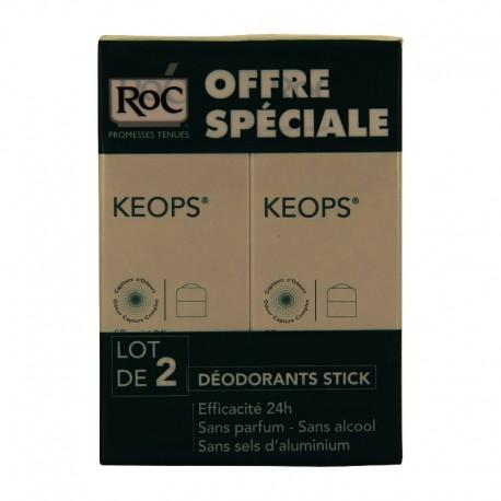 Roc keops deodorant stick - Lot 2 x 40 g