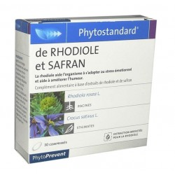 Phytoprevent Phytostandard Rhodiole Et Safran 30 Comprimés