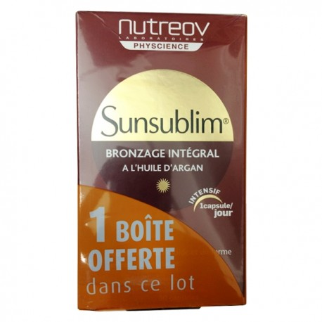 Nutreov sunsublim bronzage intégral 30 capsules