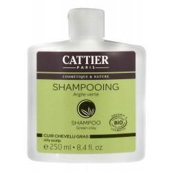 Cattier Shampooing Argile Verte Cuir Chevelu Gras 250 Ml