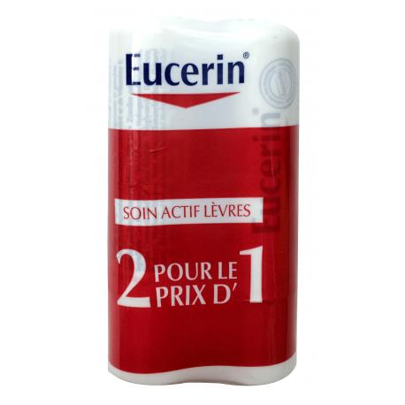 Eucerin Soin actif lèvres- Lot 2 x 4.8 g