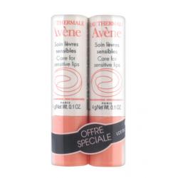Avène Eau Thermale Soin Lèvres Sensibles - Lot 2 X 4 G
